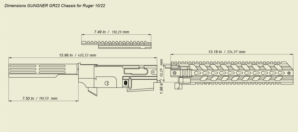 Chassis System For Ruger 1022 Gungner Inc